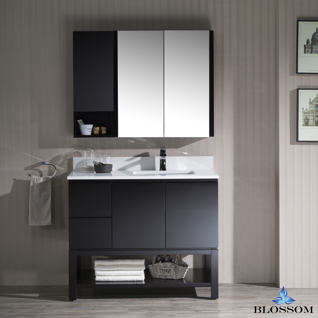 Blossom Monaco 42-inch Vanity Set with Medicine Cabinet and Wall Cabinet - Right