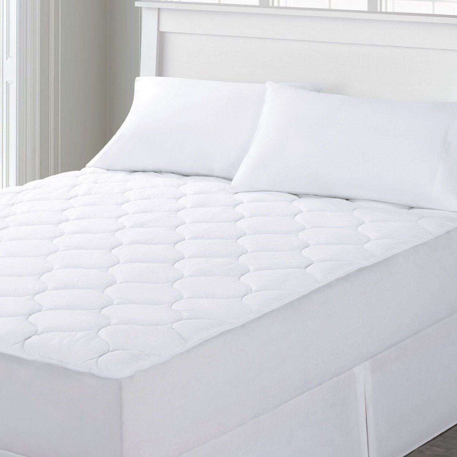 Comfort Linen Quilted Mattress Pad - Twin