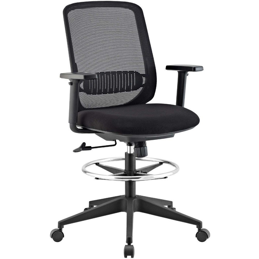 Acclaim Mesh Drafting Chair, Eei-2862-blk