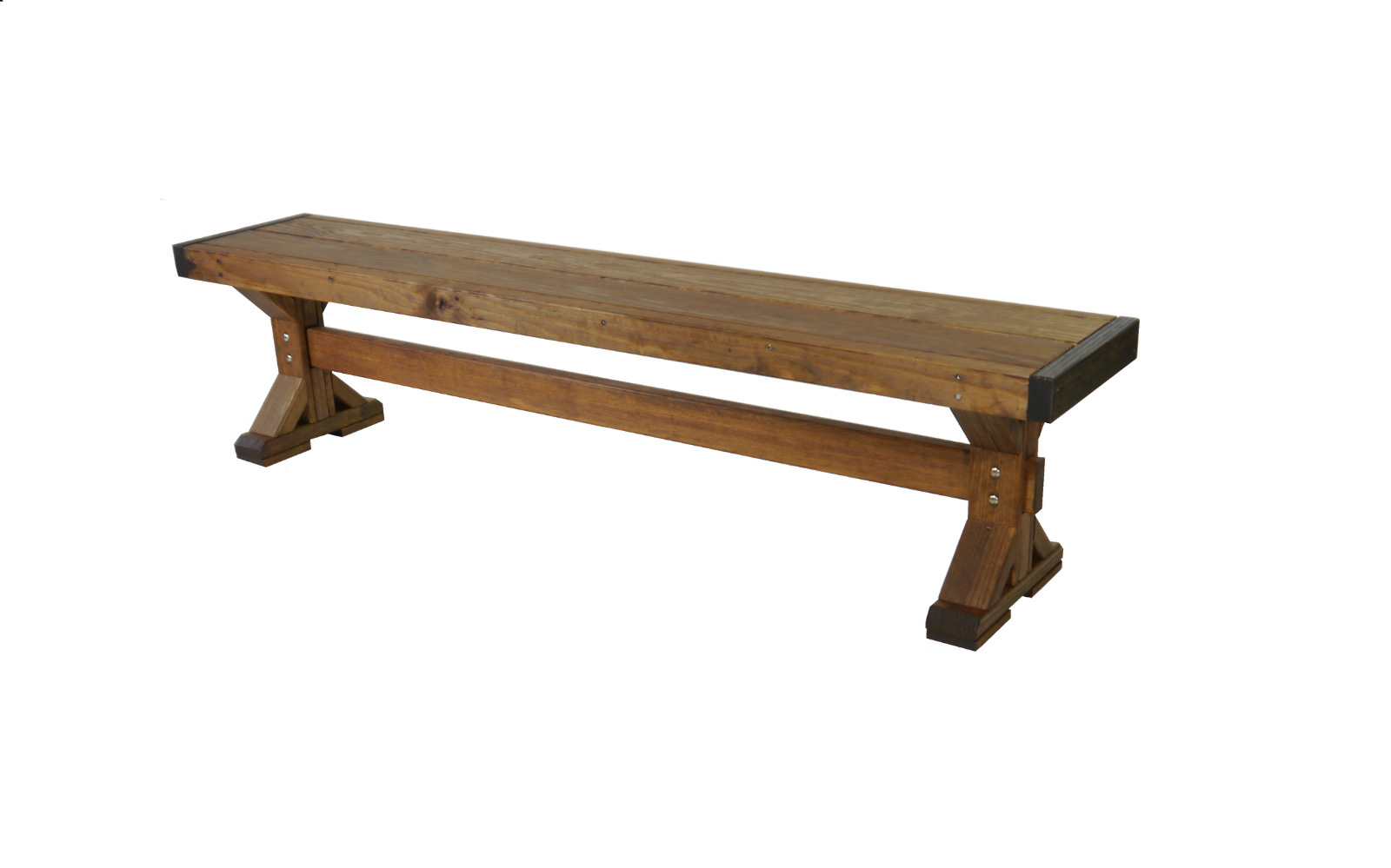 Outdoor Quality X-frame Farmhouse Bench