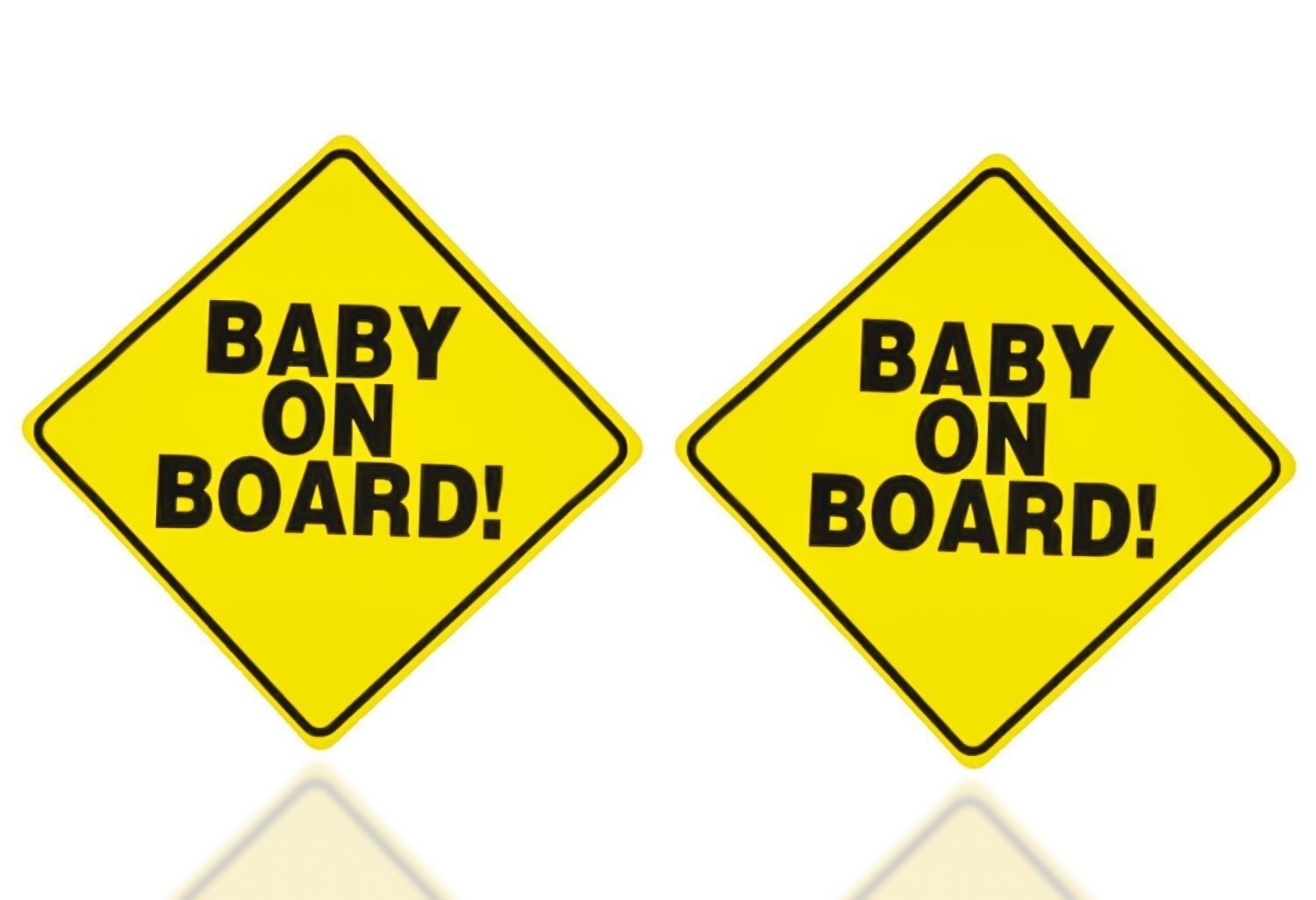 Zone Tech 2x Baby on Board Vehicle Car Warning Bumper Decal Sticker Signs 5×5""
