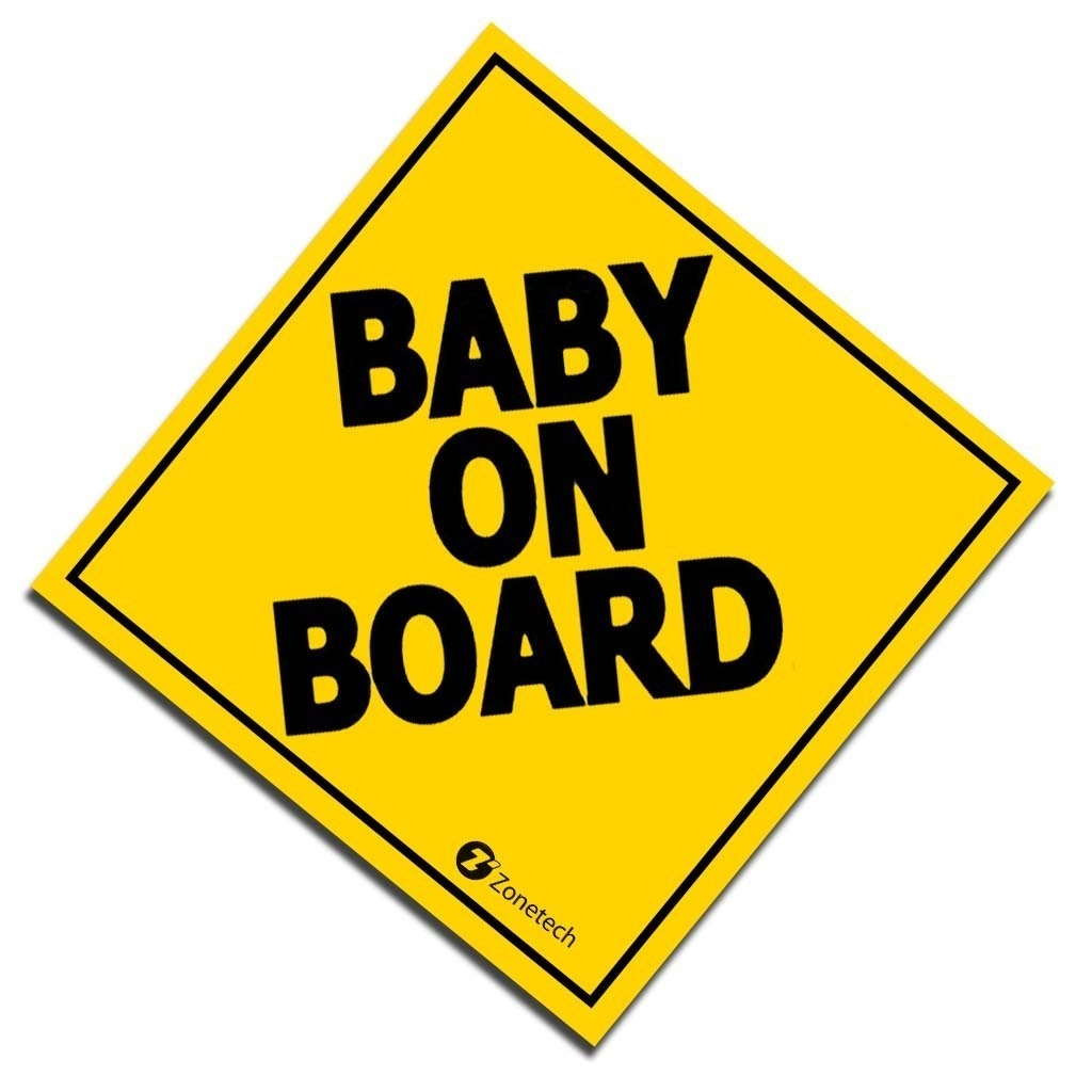 """Zone Tech 7"""" Baby On Board Vehicle Car Safety Bumper Decal Warning Sticker Sign"""