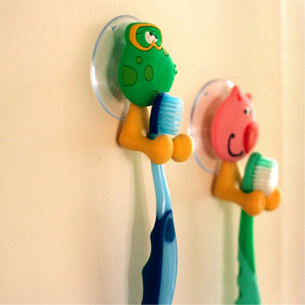 1pc Cute Cartoon Animal Silicone Toothbrush Holder Hooks Rack with Suction cup 5aa1fb8c2a00e43ad6769bed