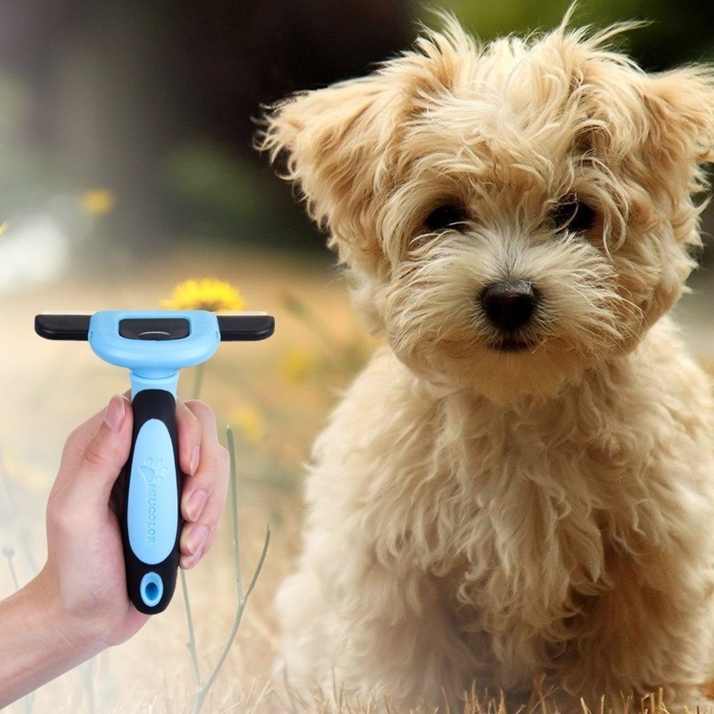 Pet Grooming Brush Effectively Reduces Shedding rofessional Deshedding Tool For Dogs And Cats - 1 pack 5aa39a5099336a7460390bdb