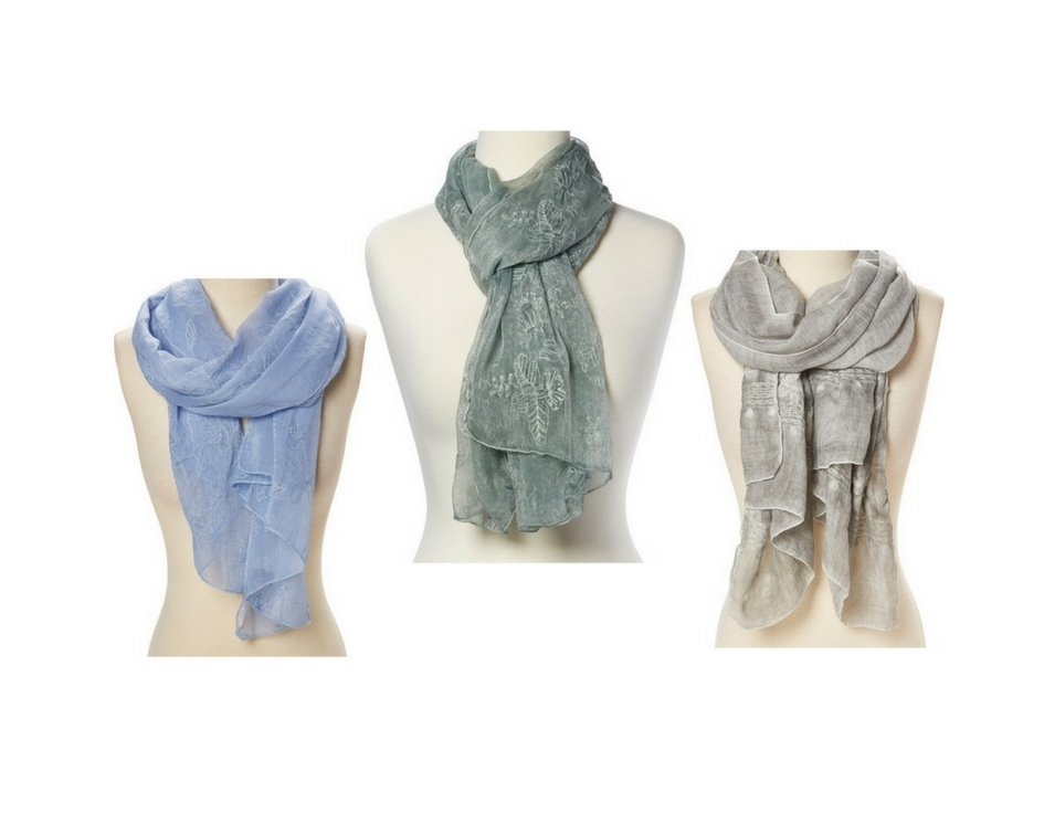 Sheer Scarf Embroidered Wrap Shawl Floral Lace Women New Long Soft Colors Stole For Women's - Sage 5ab2302e19a954749f550146
