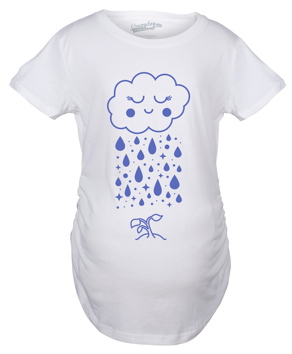 Maternity Cloud Seedling Pregnancy Tshirt Cute Nature Outdoors Tee For Baby Bump