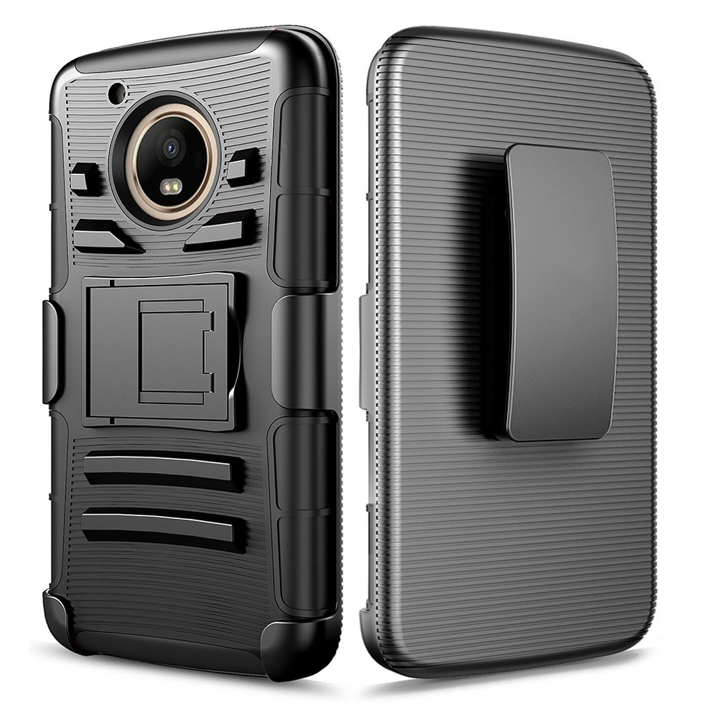 Motorola Moto E4 Plus | Xt1770 | Xt1773 Armor Belt Clip Holster Case Cover