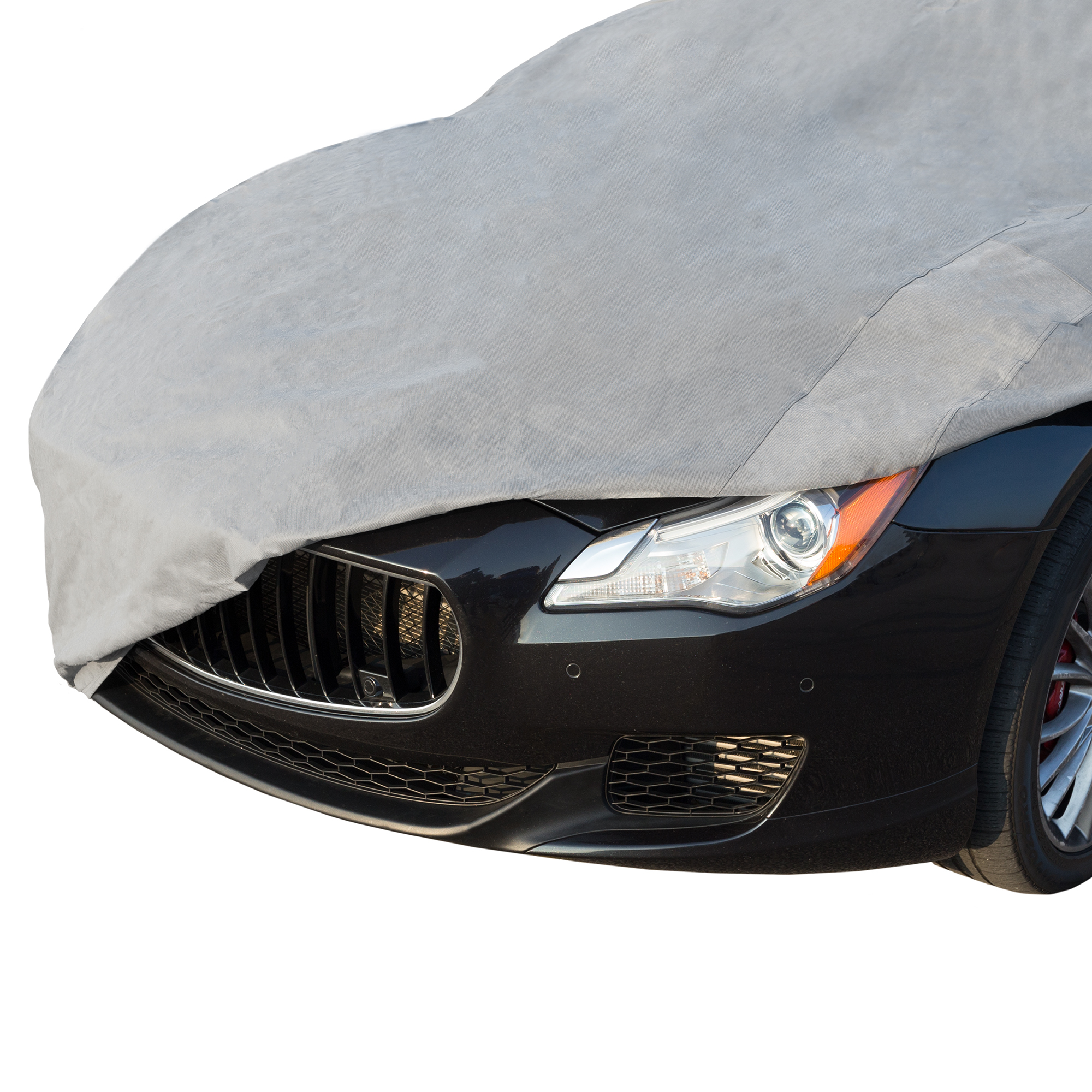 Universal Vehicle Car Cover Elastic Hems Grommets Fits Cars up to 15.8 Ft Water Resistant