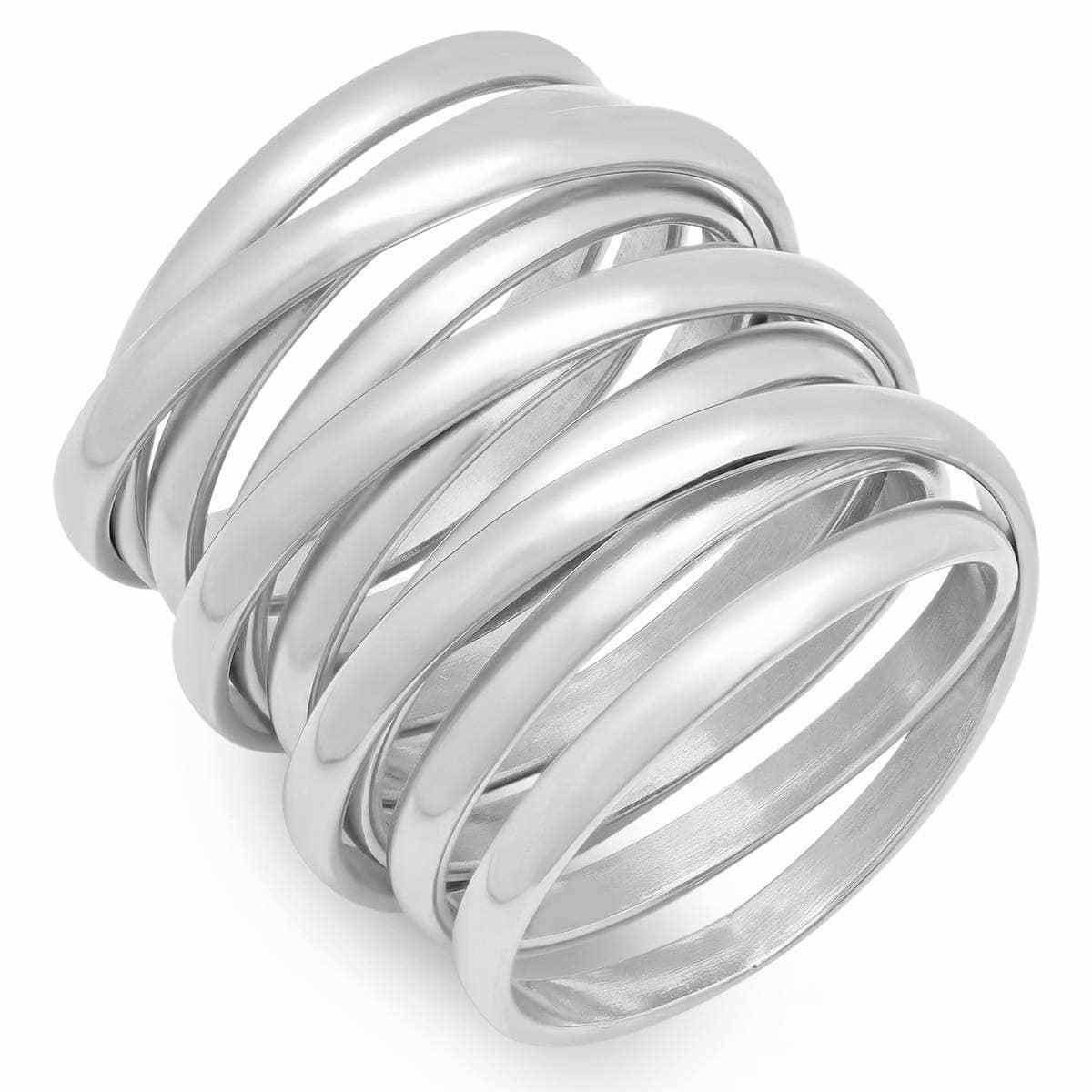 Piatella Ladies Stainless Steel Multiwrap Ring Size 7 5ad5624c2a00e45c1b7cb1ae