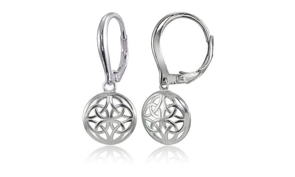 Sterling Silver High Polished Filigree Round Dangle Leverback Earrings 5ad651652a00e4350a525591