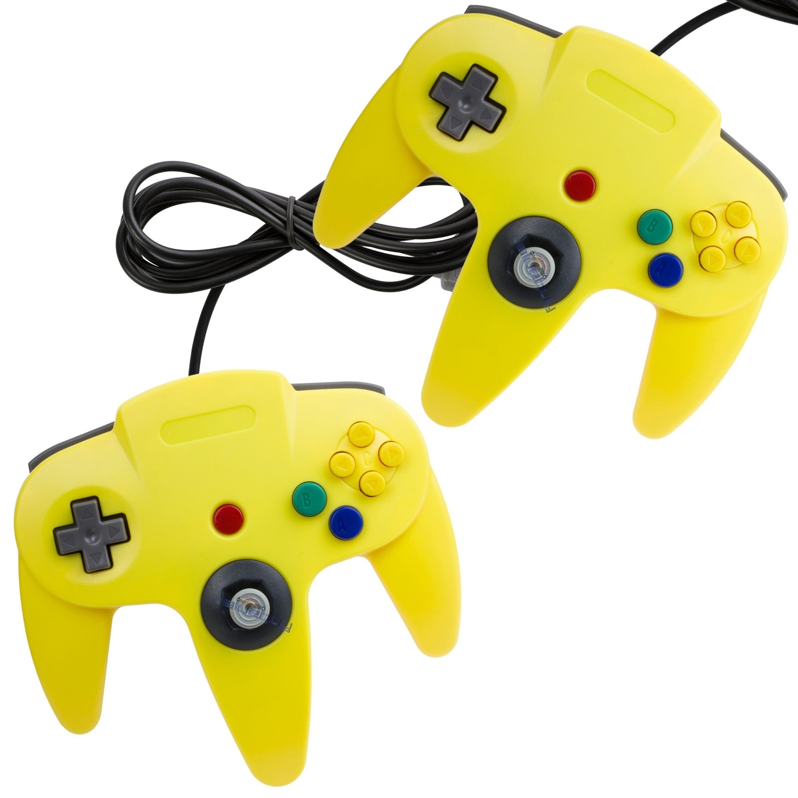 2 x Brand New Controller for Nintendo 64 Yellow Return Policy 30 Day Money Back Condition: Brand new. 3rd Party Products, Not A Nintendo Product.