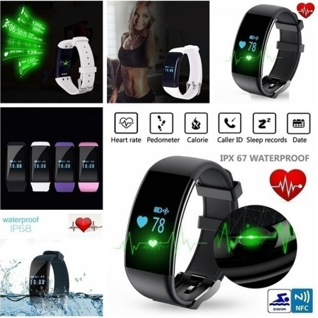 Original Latest Heart Rate Monitor Smartband DFit D21 Waterproof Smart Band Bracelet Health Fitness Tracker Pedometer Watch - Black -  Version shop