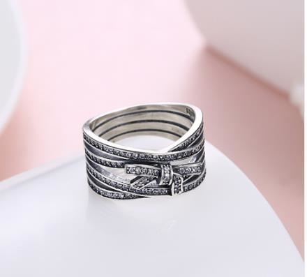 Fashion Crystals Bowknot Rings 925 Sterling Silver Female Rings for Woman Girl Gift Fine Jewelry – 6