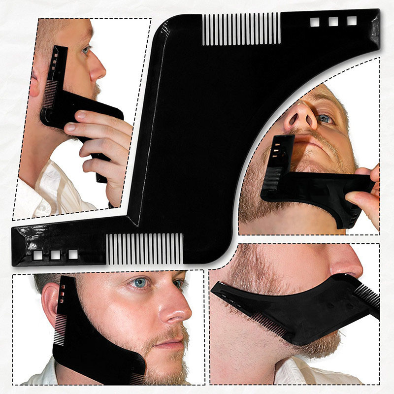 New Beard Styling Comb Shaping Tool Mustache Face For Men Gifts Black 5ae019a42a00e47b2a11b5fe