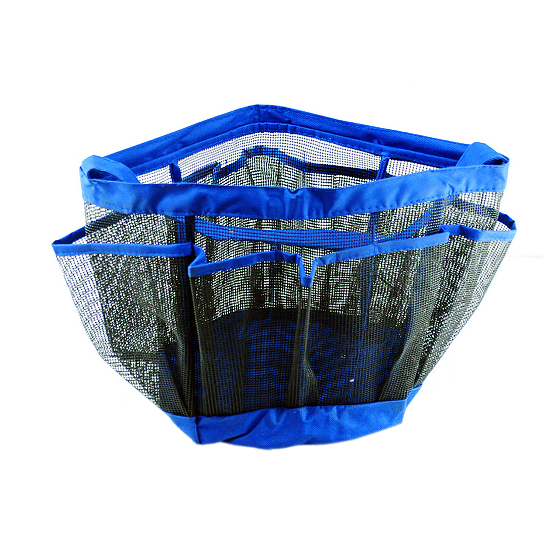 Hanging Blue Multifunctional Grid Organizer Wash Bag Mesh Makeup Storage Case 5ae019a82a00e479493621ab