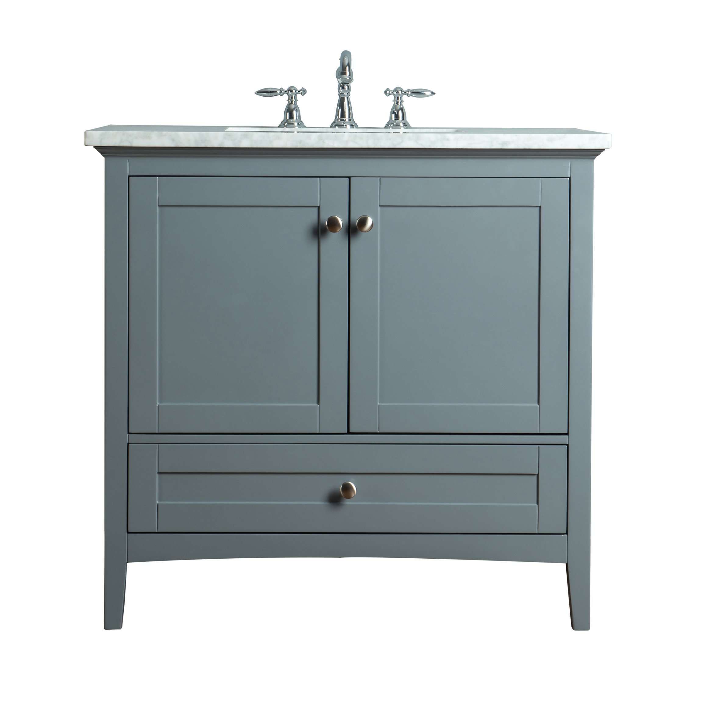 Myhomeandbath Modern Es Single Sink Bathroom Vanity Grey Tower
