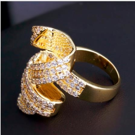 New 2018 Hot Selling Style Romantic Rings Fashion Gold-color AAA Quality Cubic Zirconia Lead Free Bridal Engagement Jewelries - 6 5af3a4ab3474d73c90097444