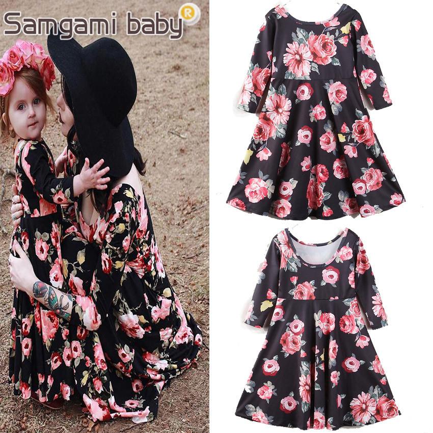 Selling Parent-child Set Flower skirt – 90