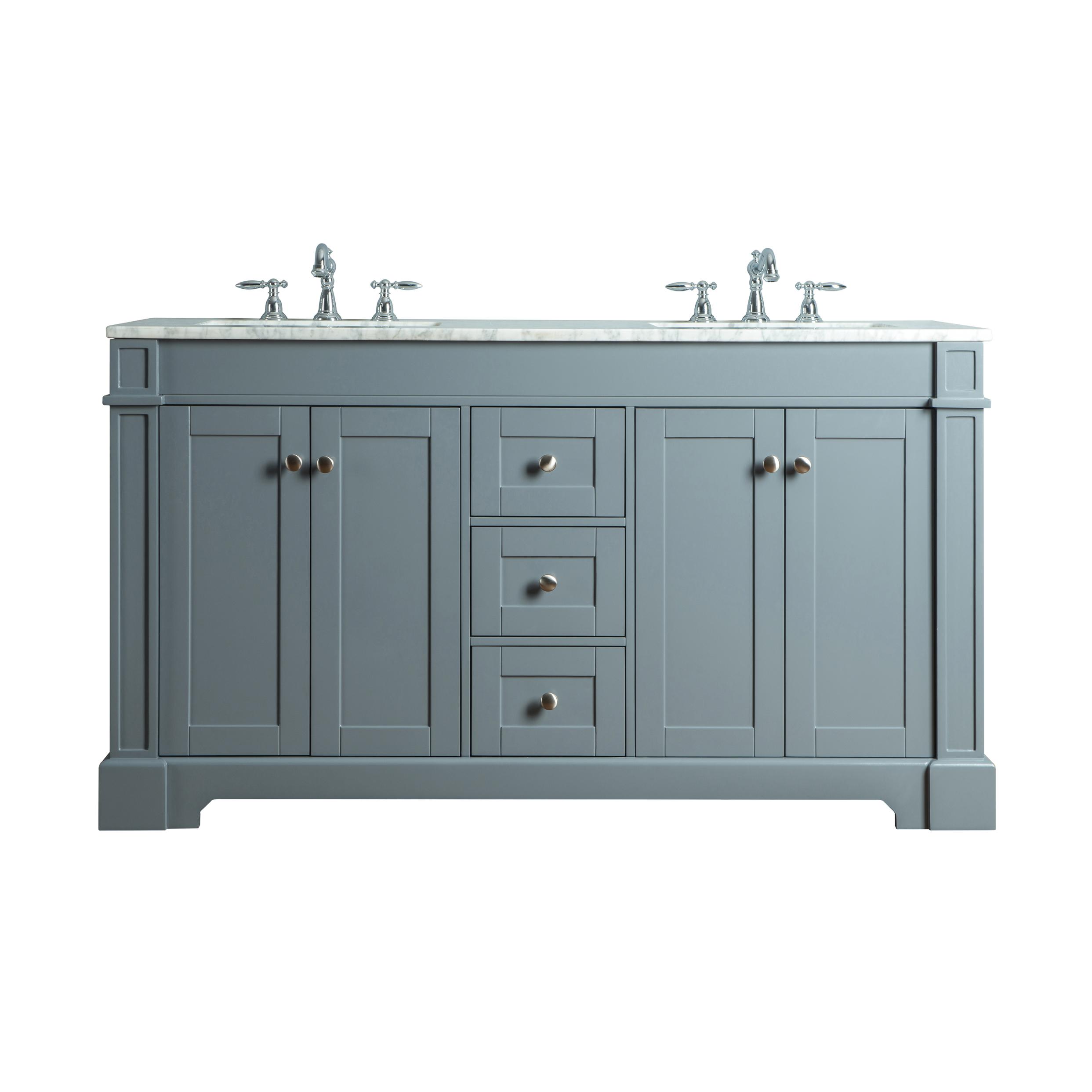 Myhomeandbath Es Double Sink Bathroom Vanity Grey Seine