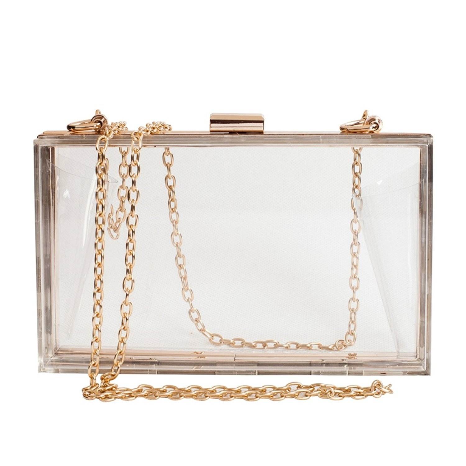Women Cute Clear Acrylic Box Clutch Stadium Approved Crossbody Purse Evening Bag (imomoi) photo