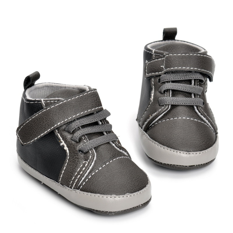 Infant Baby Boy Soft Sole PU Leather First Walkers Crib Shoes