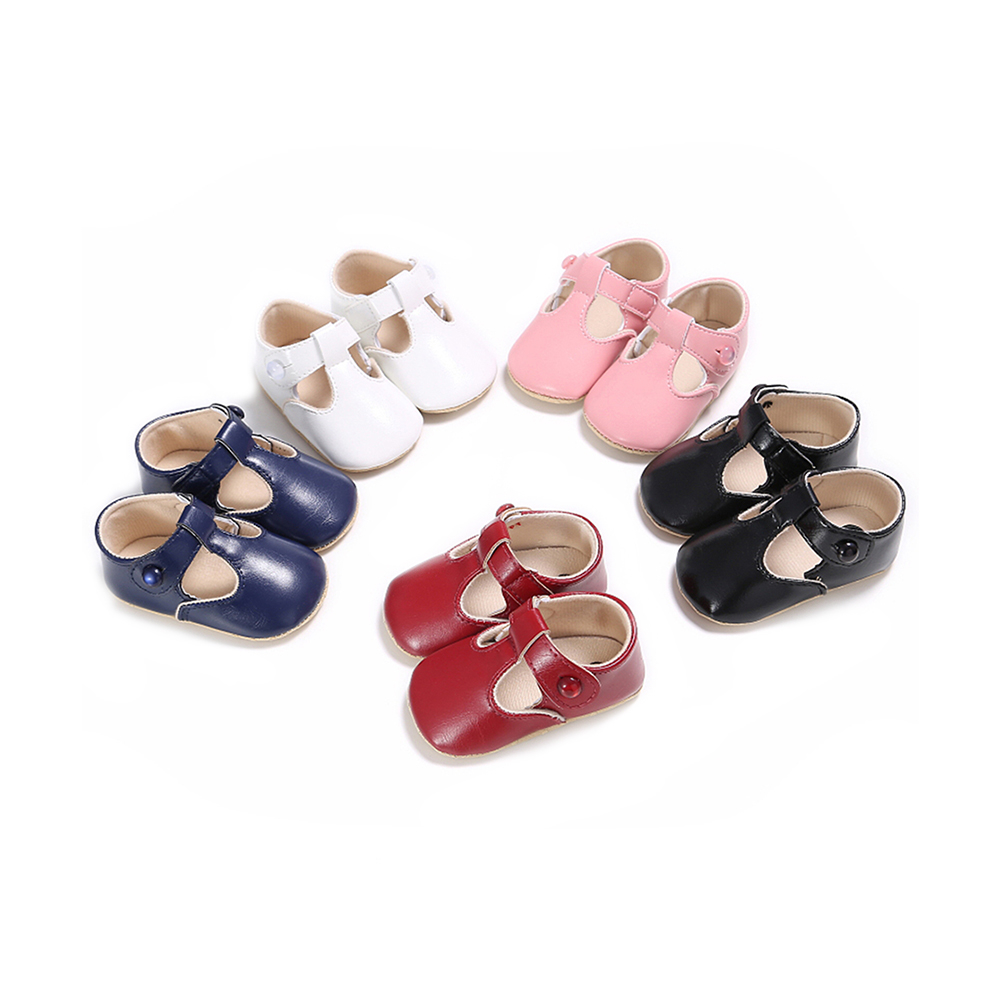 Autumn Infant Baby Girl Soft Sole Shoes Red Pink White Black Blue PU Cotton First Walkers Baby Shoes
