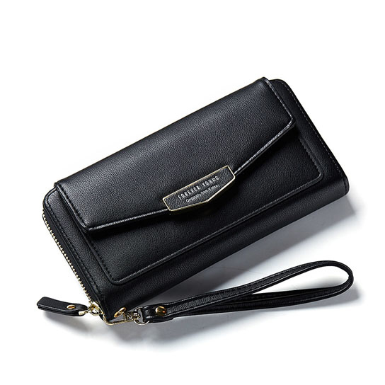 Multi Function Leather Purse Wallet - Black (GiftStores) photo