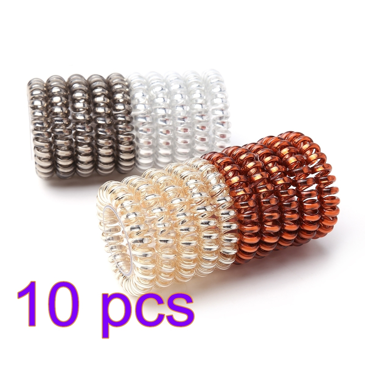 Hair Accessories For Women Hair Ring Rope Traceless Girls Gum Springs Elastic Hairbands Headdress Hair Ties Rubber Bands – S