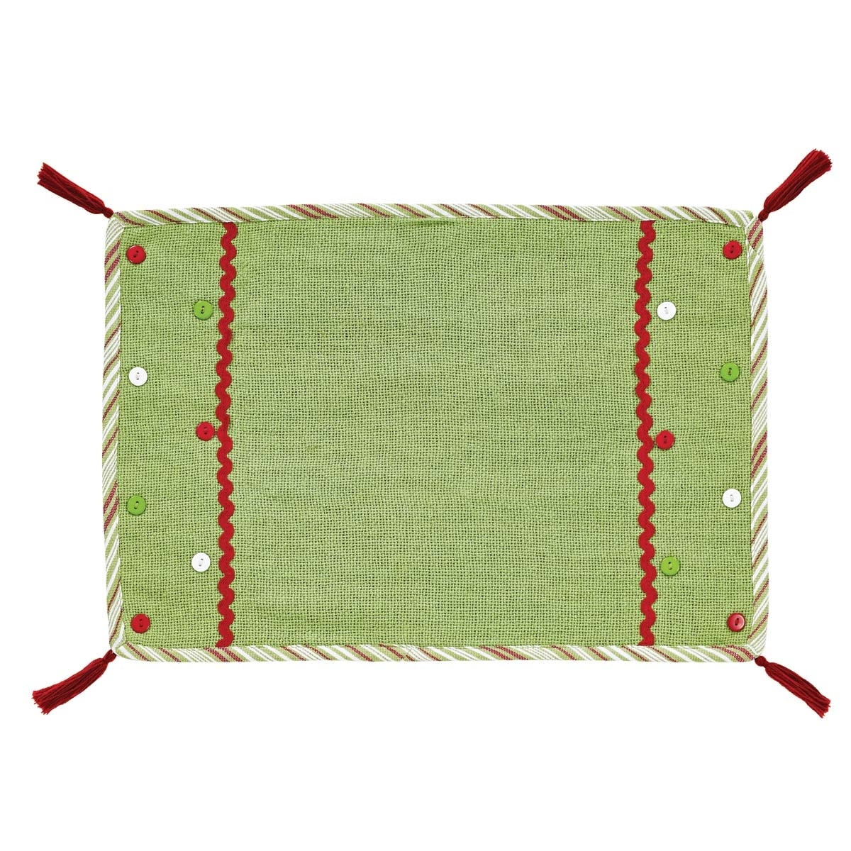 Seasonal Tabletop & Kitchen Whimsical Christmas Green Placemat Set of 6 5b17f29d2a00e41be80d1151