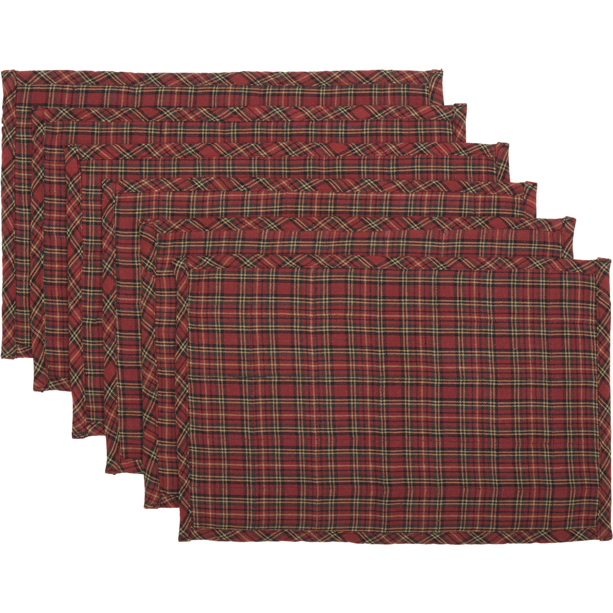 Seasonal Tabletop & Kitchen Tartan Holiday Red Placemat Set of 6 5b17f29d2a00e41bef2fa663