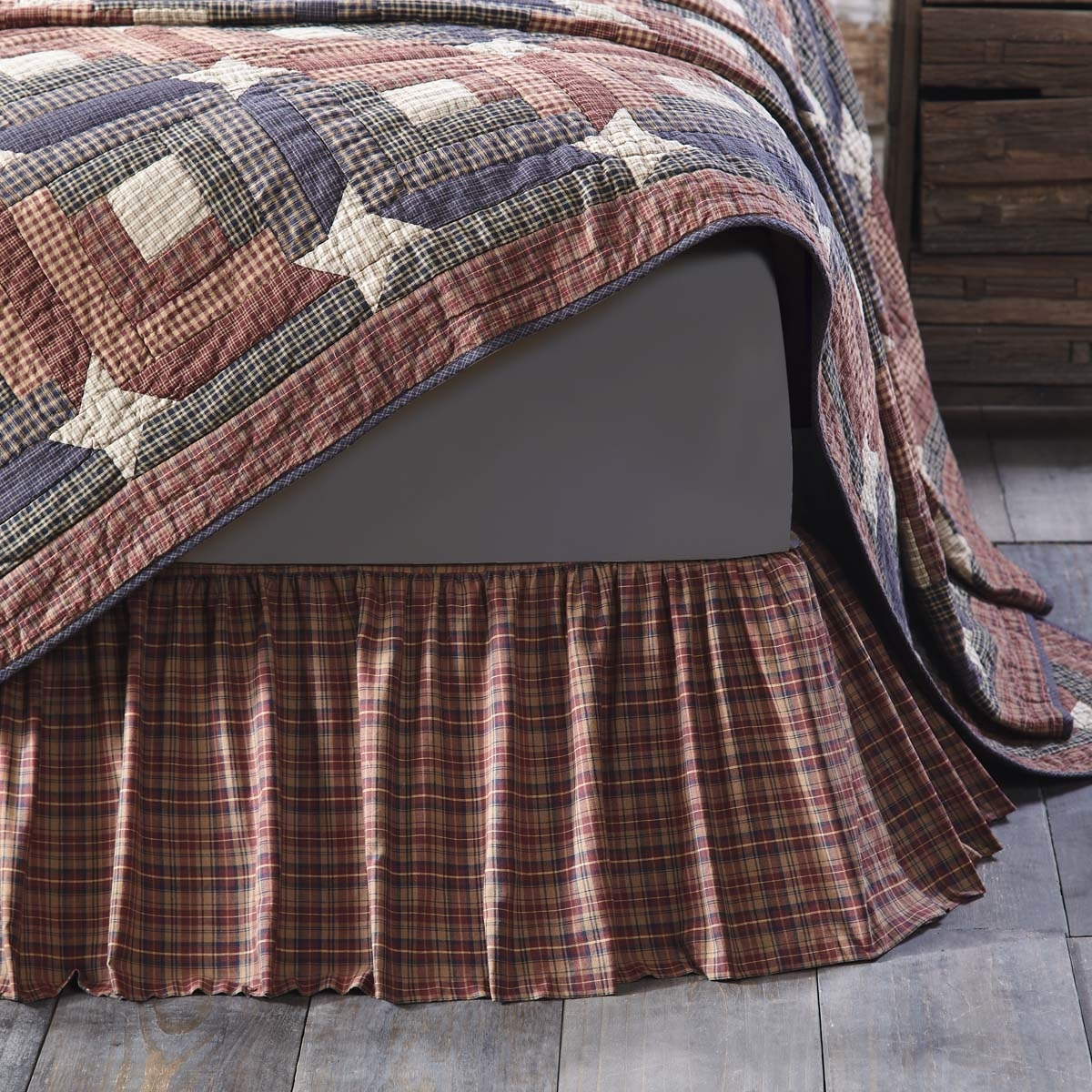 Rustic & Lodge Bedding Parker Red Bed Skirt 5b17f2b82a00e4204a3d27fe