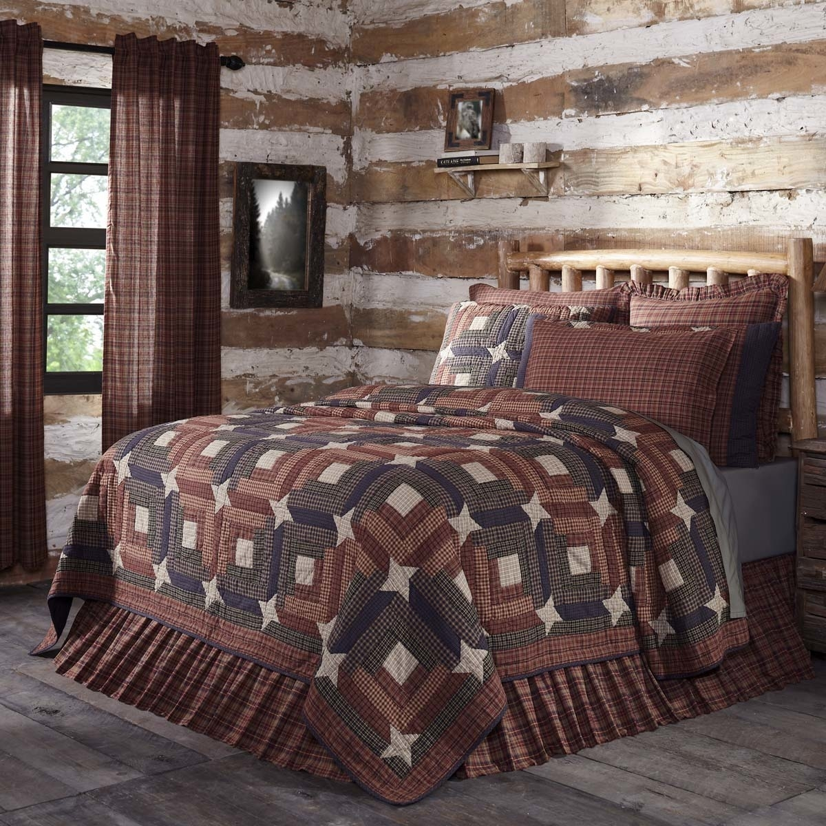 Rustic & Lodge Bedding Parker Red Quilt 5b17f2b8e224610ebe5146f3