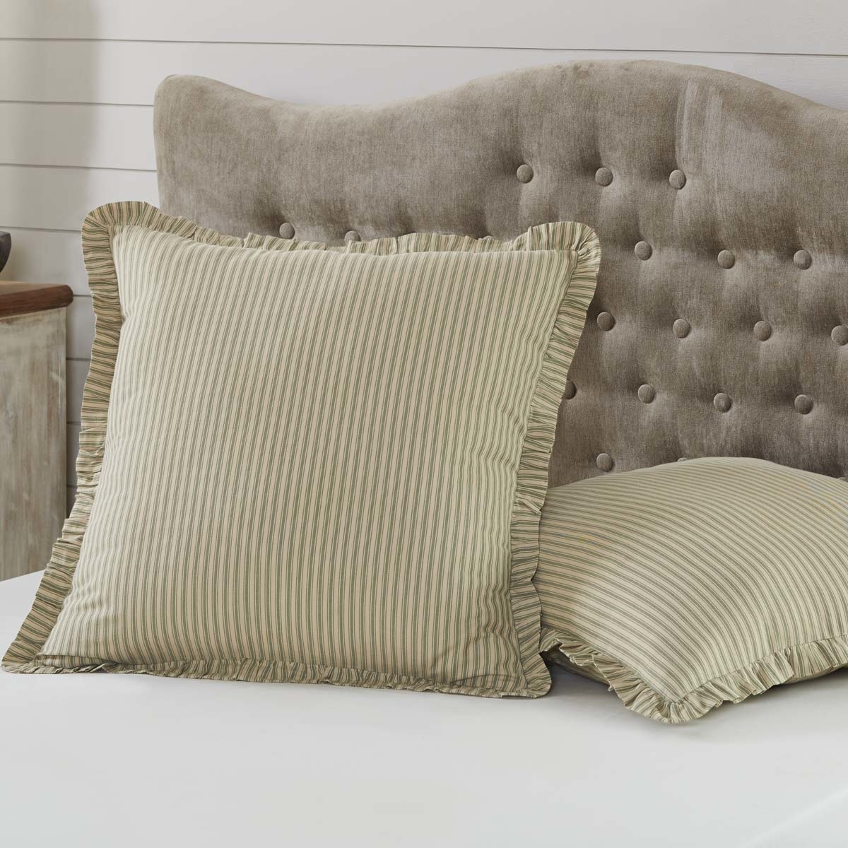 Farmhouse Bedding Kendra Stripe Euro Sham