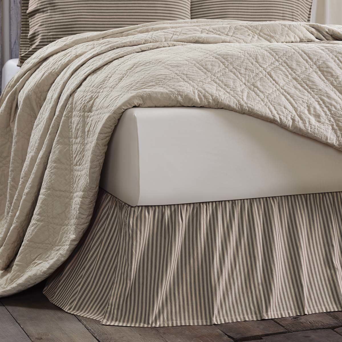 Farmhouse Bedding Kendra Stripe Bed Skirt