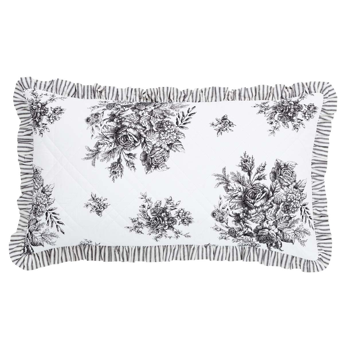 Farmhouse Bedding Josephine Black Sham