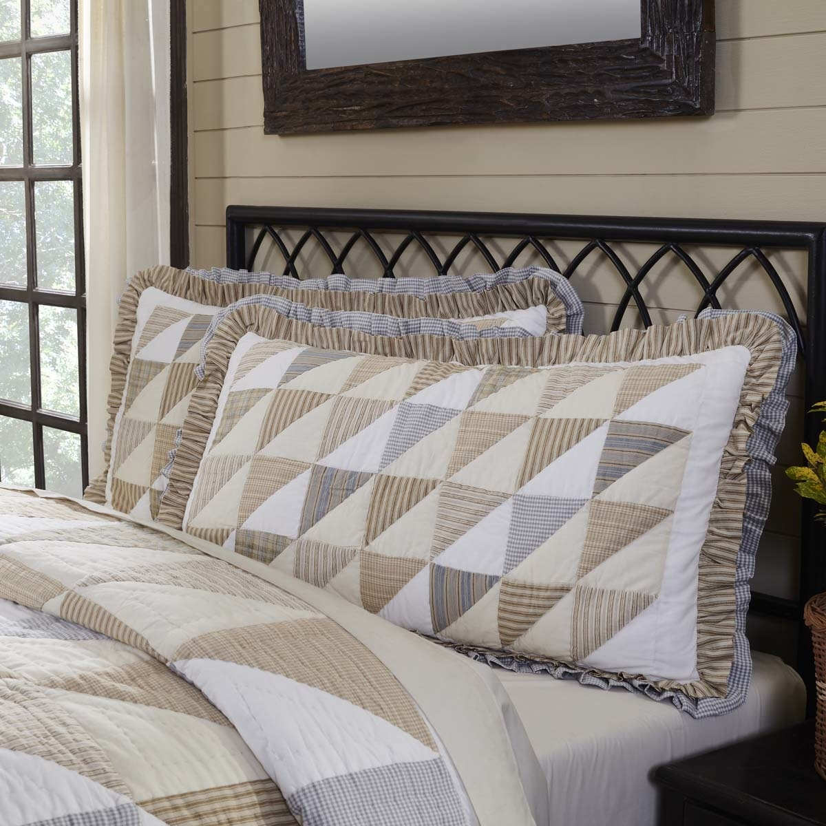 Farmhouse Bedding Joanna White Sham