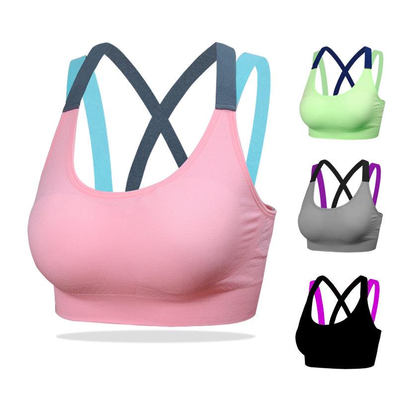 Womens Yoga Bras Push Up Sports Bra Gym Running Padded Bras Athletic Vest Sportswear Underwear - black, s 5b1e4f072a00e413af470d70