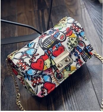Women Graffiti designer handbags - red love, china (TinL) photo