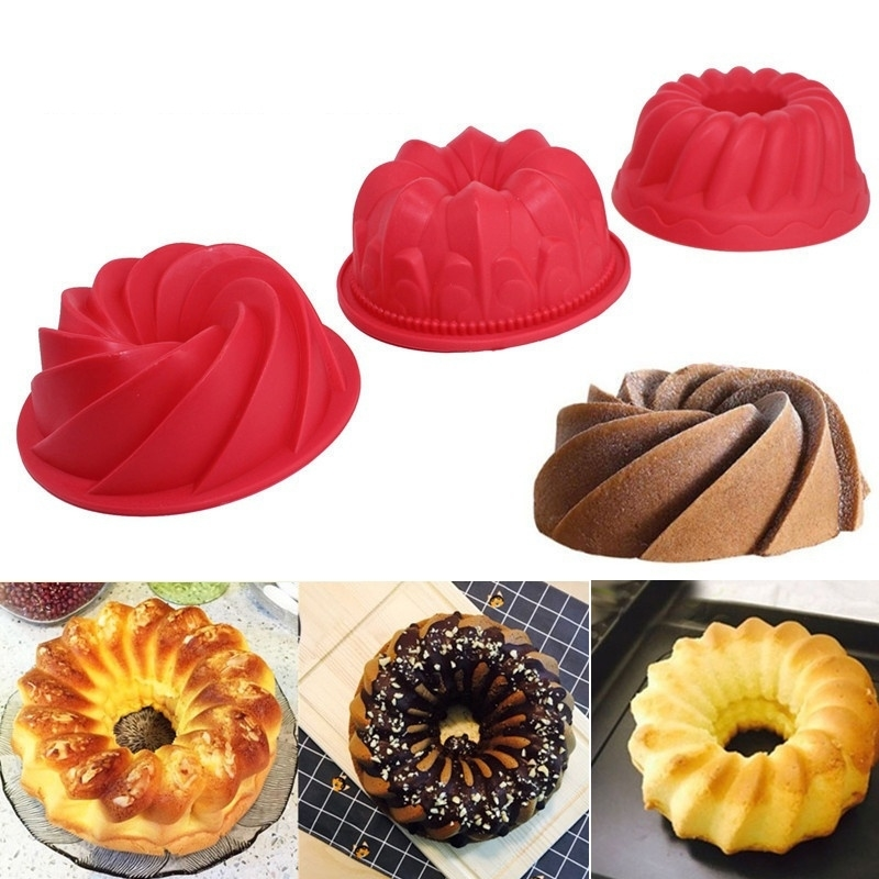 1pcs Small Spiral Shape Food Grade Silicone Cake Mold Pan 3d Mould Bread Bakery Baking Tools Random Color 5b3344a00cb5a67c4129cb67