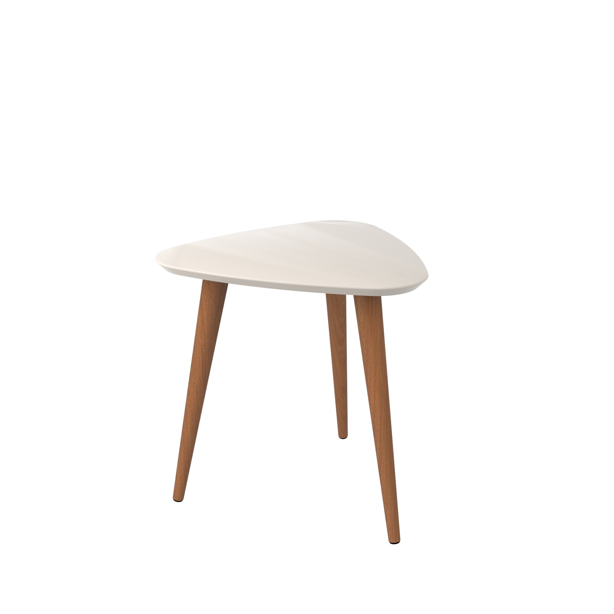 """Utopia 19.68\"""" High Triangle End Table With Splayed Wooden Legs"""
