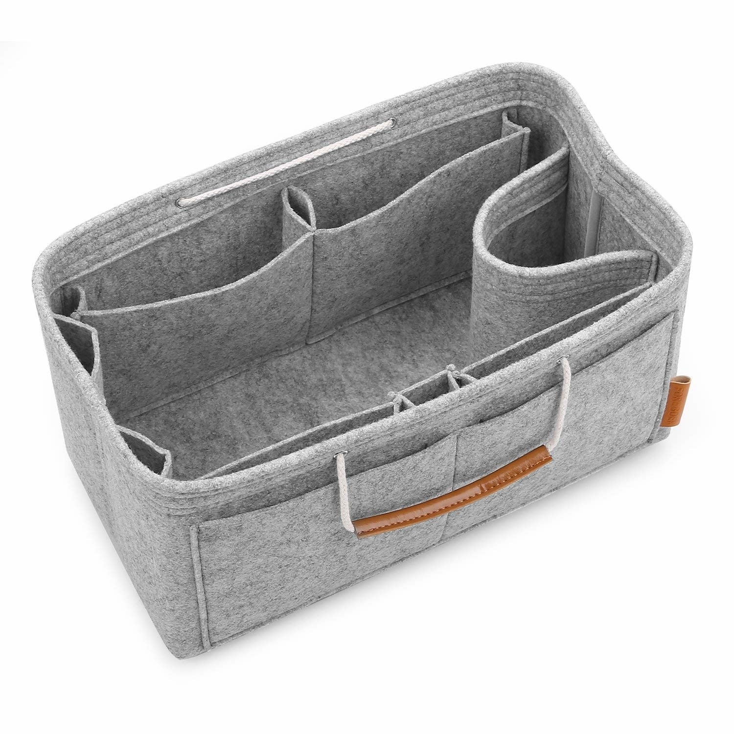 Felt Purse Insert Handbag Organizer Bag in Bag Organizer with Handles (imomoi) photo