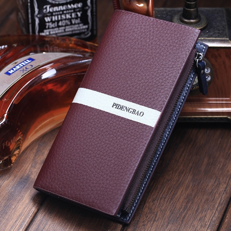 Fashionable Men Quality Leather Wallets,Designer Wallets for Men,High Capacity Purses (Sincolor) photo