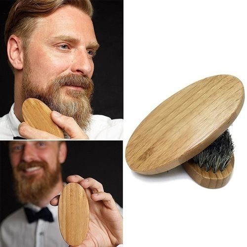 Men Natural Boar Bristle Beard Brush and Mustache Comb Kit Handmade 5b4f2b83d9fd91225a42ae15
