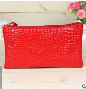 Hot Promotion New Fashion Women's Elegant Zipper Purse PU Leather Candy Colorful Long Wallets For Girl Handbags - red (Sam369) photo