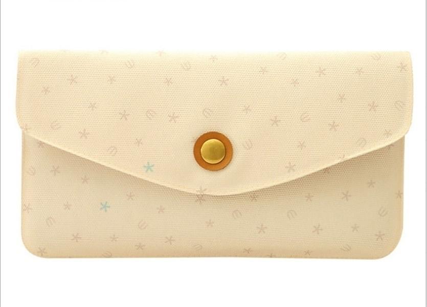 Miss Wallet Retro fashion lady purse Creative geometric clutch purse Snow Design - khaki (Sam369) photo