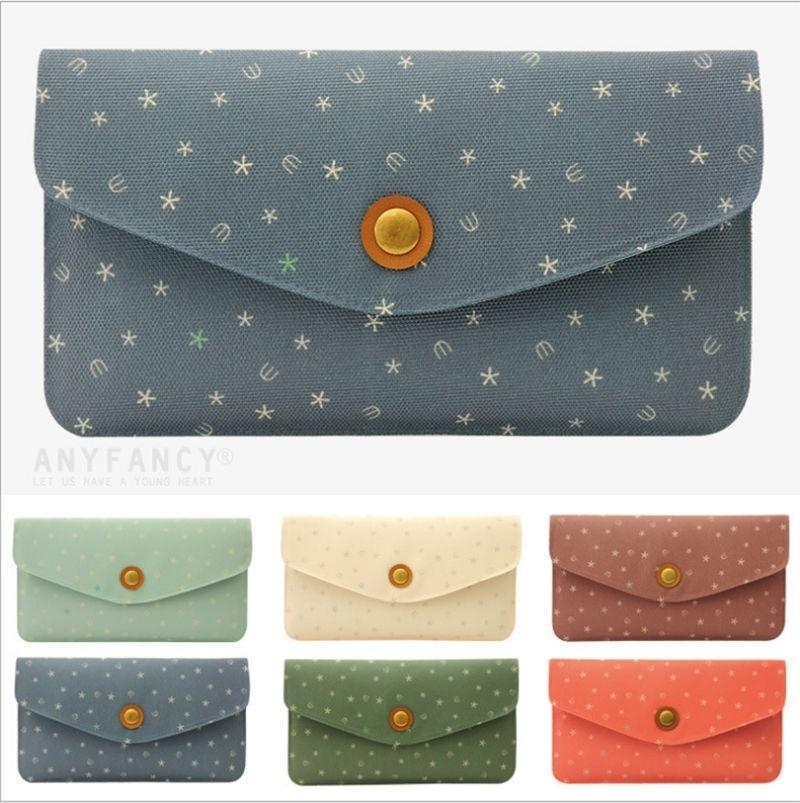 Miss Wallet Retro fashion lady purse Creative geometric clutch purse Snow Design (Sincolor) photo