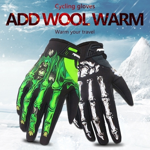Winter&autumn Skeleton Bones Gloves Windproof Waterproof Touch Screen Sports Glove Bikes Motorcycle - S, black&white 5b5842c70cb5a65c744b600b