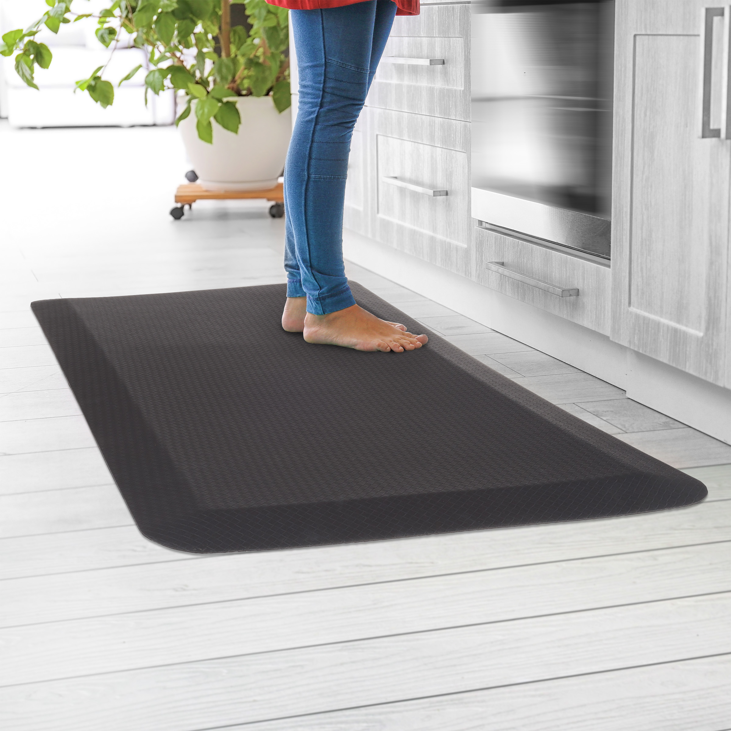 Anti-Fatigue Mat Durable Thick Cushioned Floor Mat- Soft Non-Slip Comfortable Padding Home Office