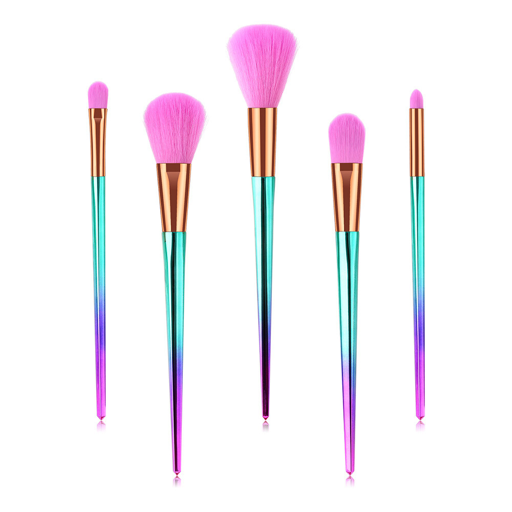 5Pcs Wooden Foundation Cosmetic Eyebrow Eyeshadow Brush Makeup Brush Sets Tools 5b75413b9623524a4b4d3ad5