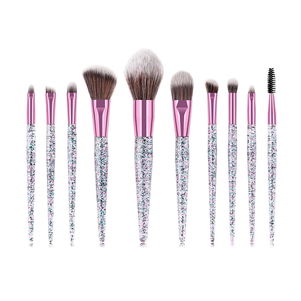 10Pcs Rubber Foundation Cosmetic Eyebrow Eyeshadow Brush Makeup Brush Sets Tools 5b75413cd9fd9137c1013a3e
